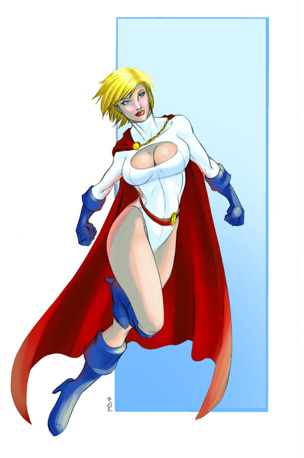 Powergirl color by jasonsobol