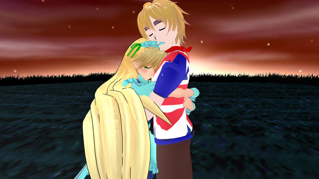 MMD Haven and England (Request) by epicbubble7