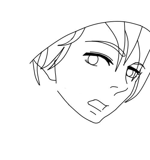 Random boy drawing WIP by epicbubble7