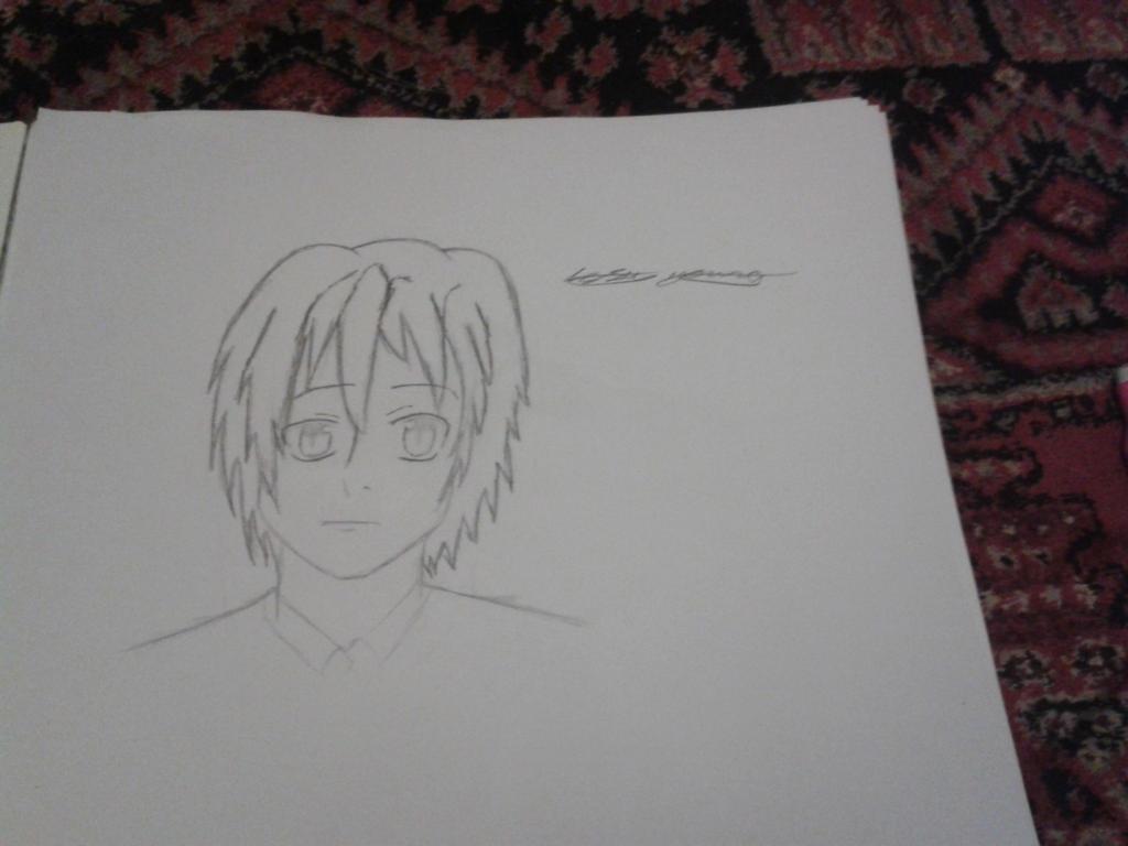 Random boy sketch by epicbubble7