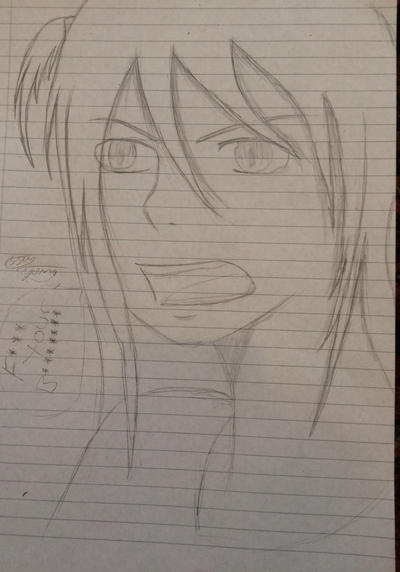 Angry girl drawing  by epicbubble7