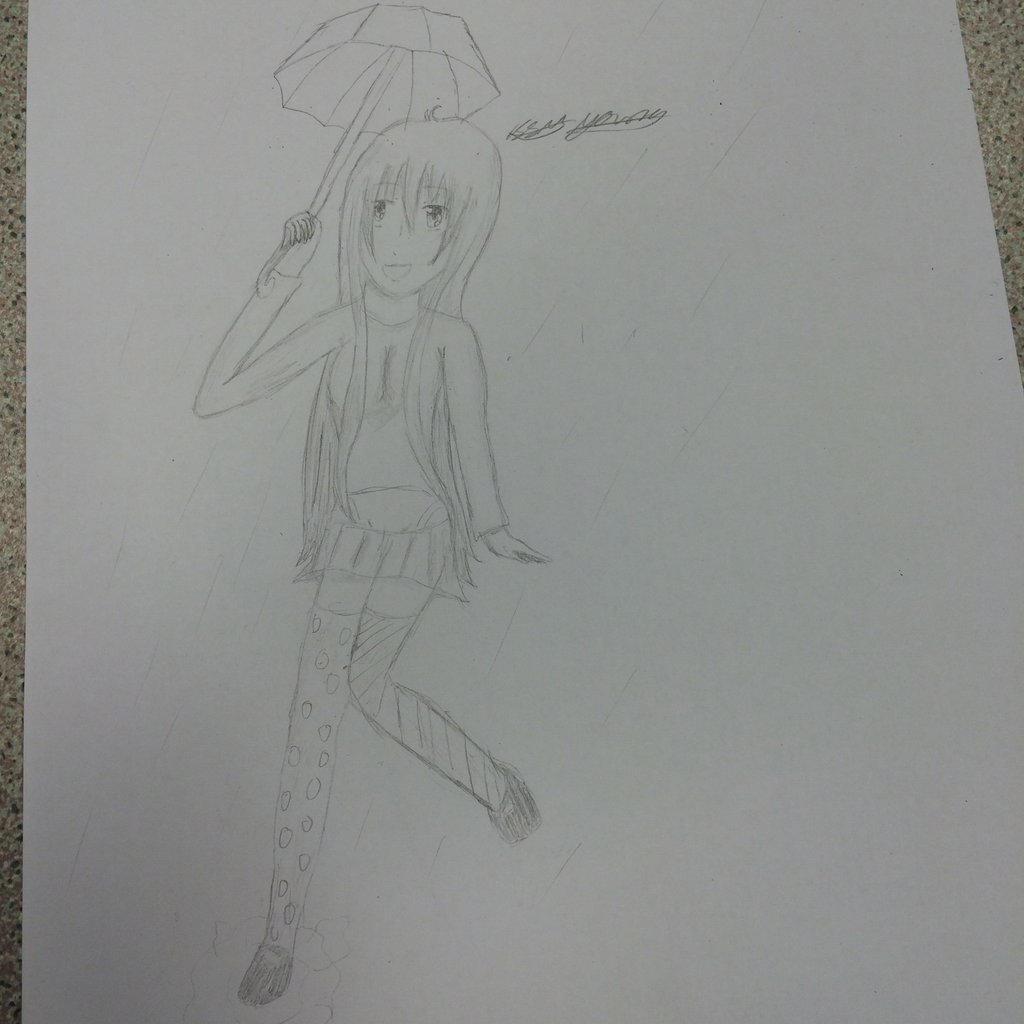 Umbrella girl by epicbubble7