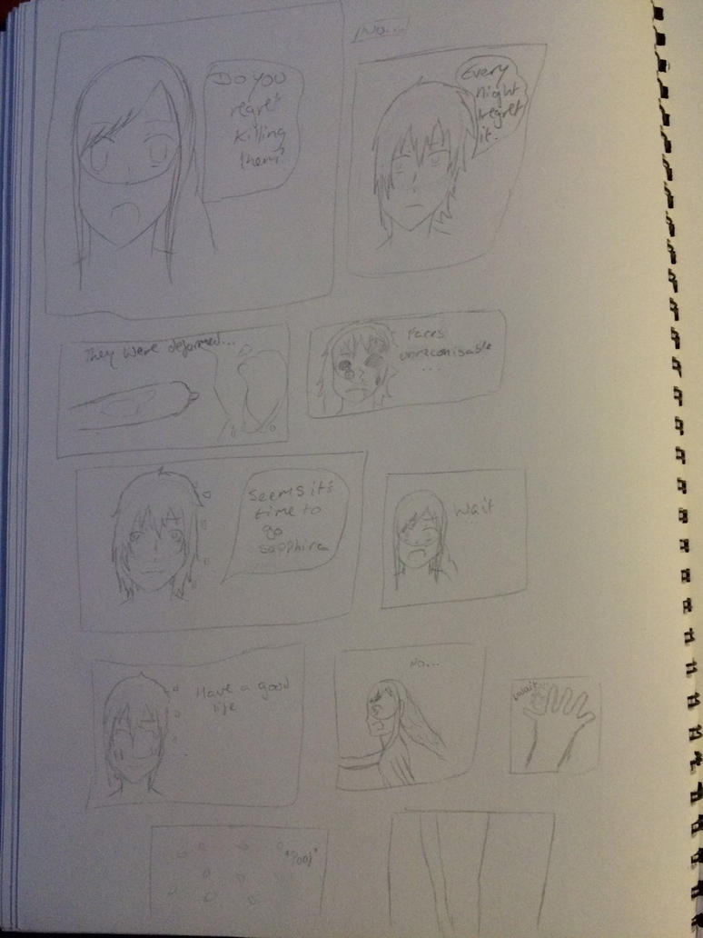 Fourth page of my story by epicbubble7