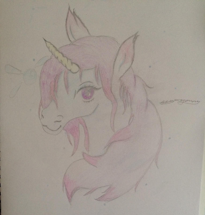 Unicorn and navi drawing  by epicbubble7