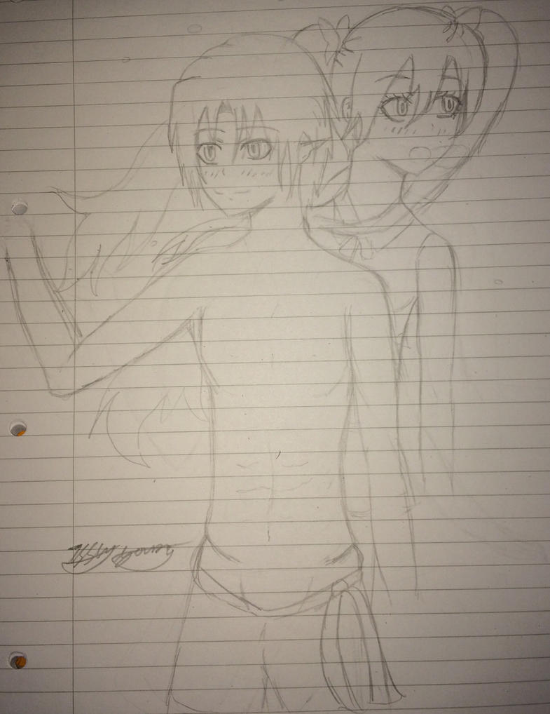 Rune factory 4 Frey and Doug WIP 2 by epicbubble7