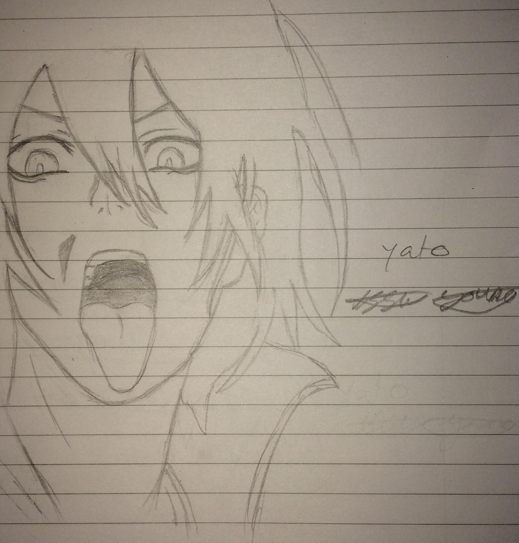 Yato from noragami WIP by epicbubble7