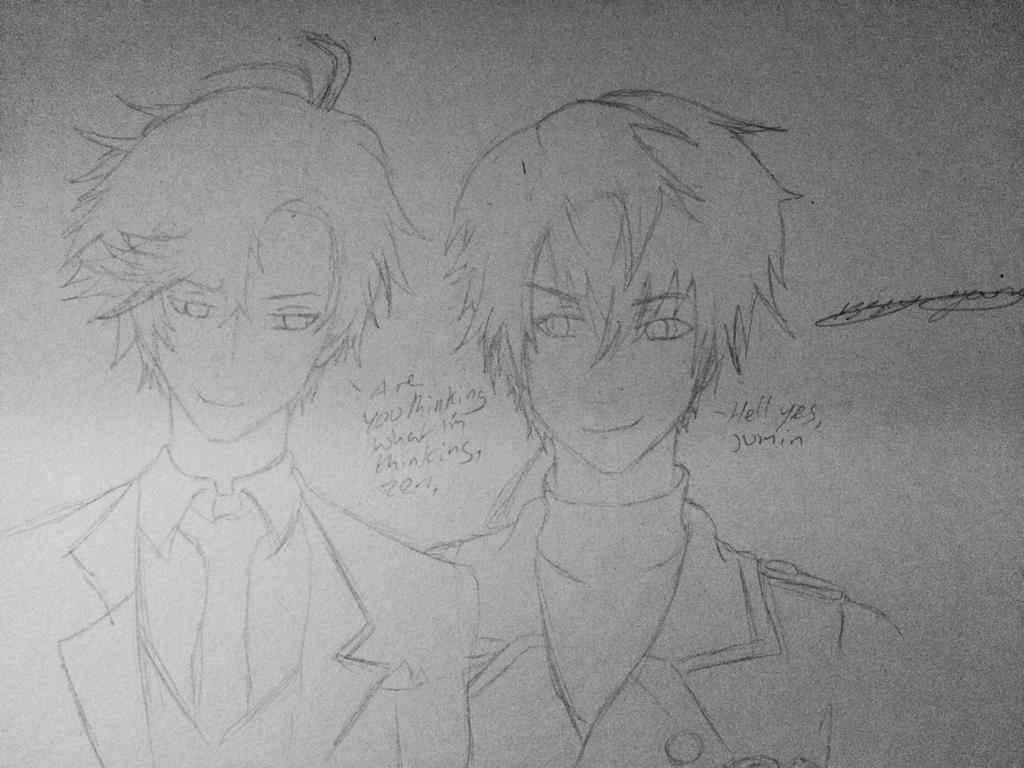 Zen and Jumin WIP by epicbubble7