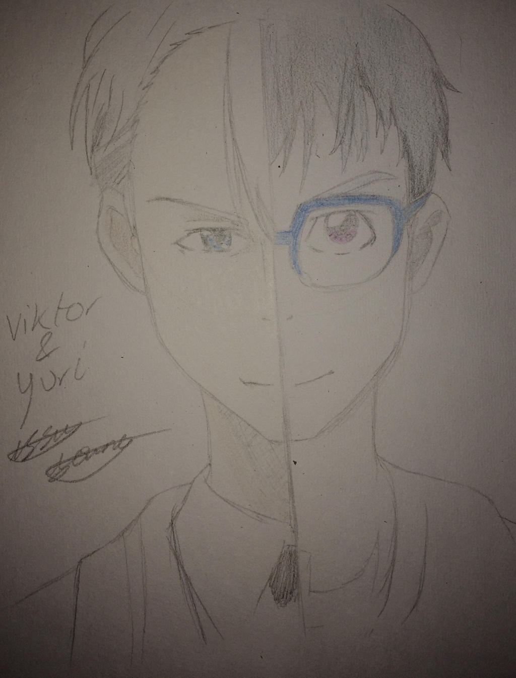 Viktor and Yuri from Yuri!!! On ice by epicbubble7