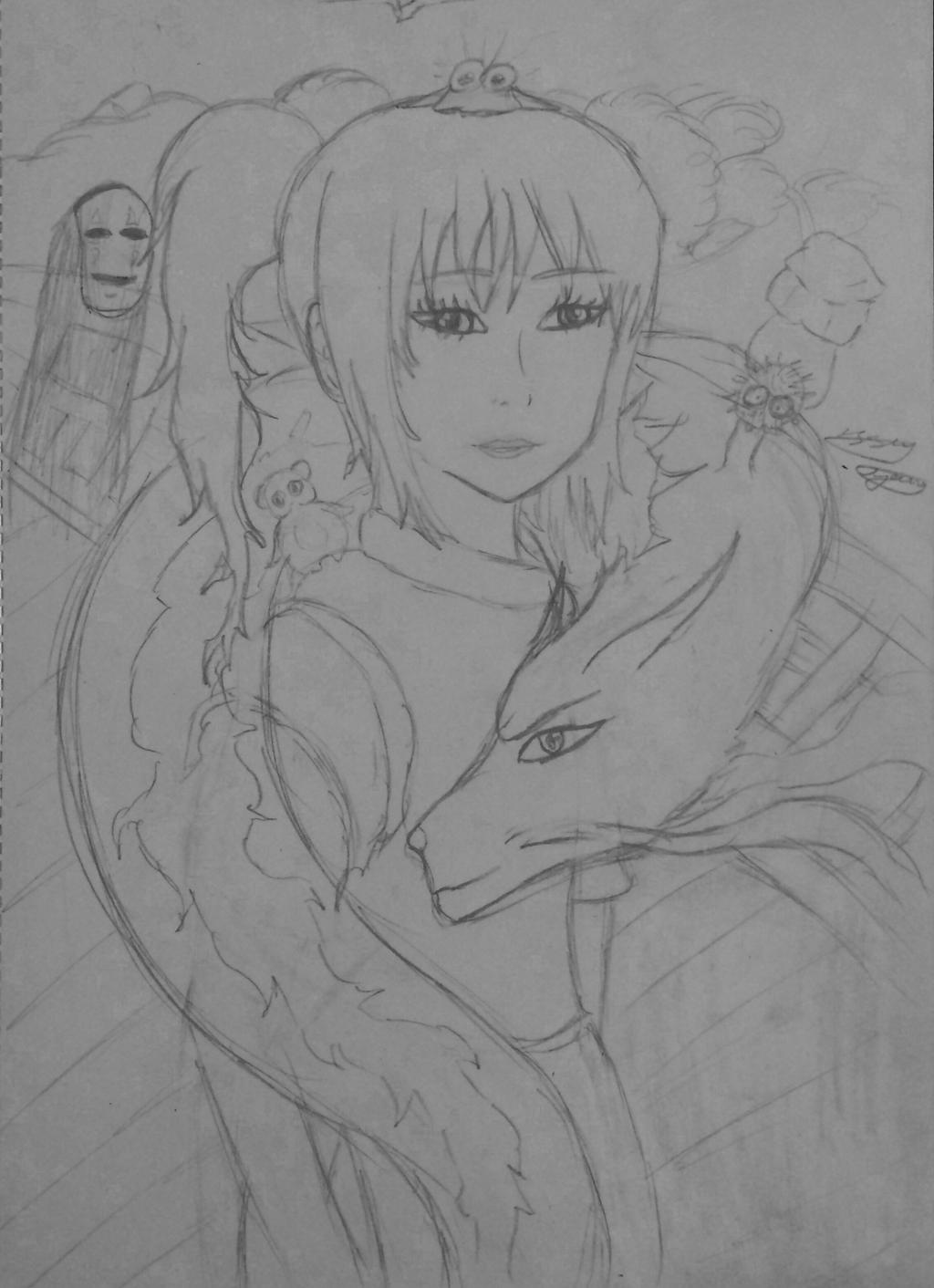 Spirited away wip by epicbubble7