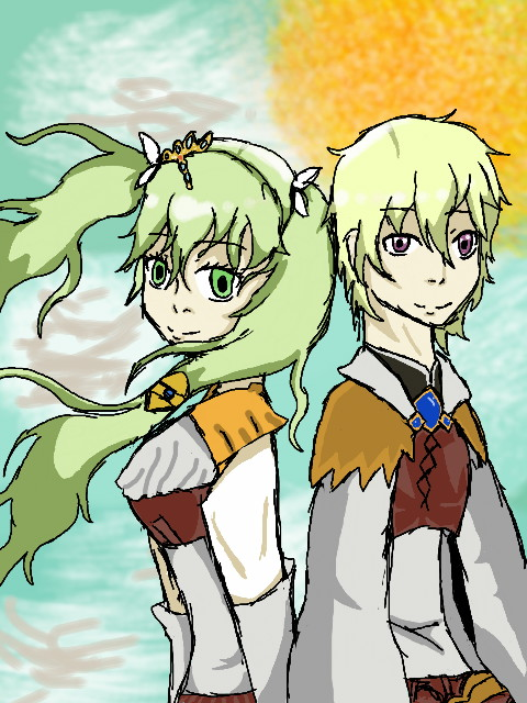 Frey and Lest Rune Factory 4 by epicbubble7