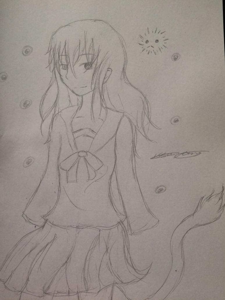 Hiyori sketch style by epicbubble7
