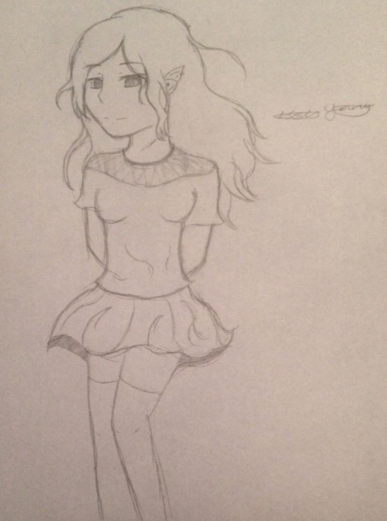 Random sketch of me by epicbubble7