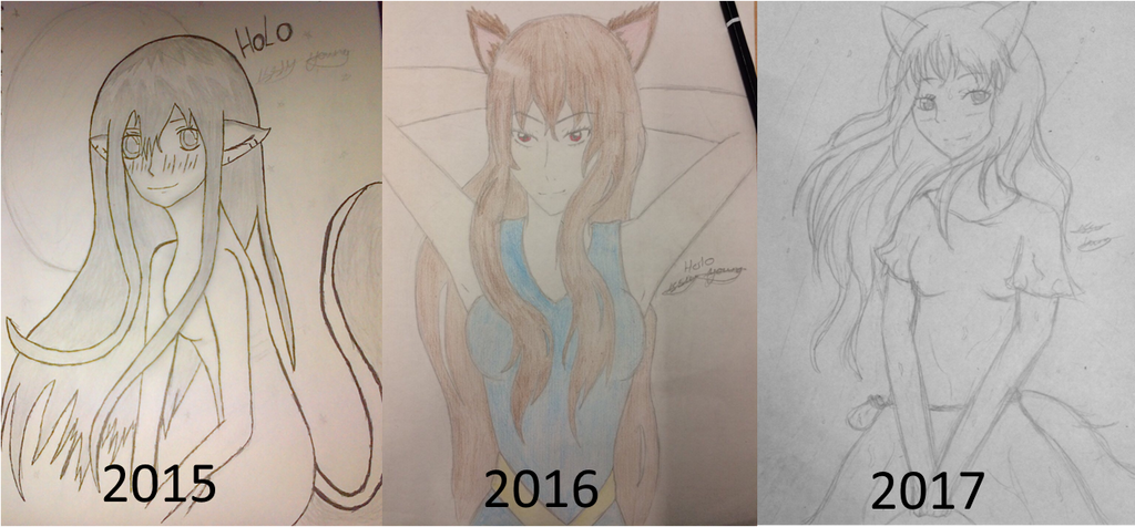 Holo style progression over 3 years by epicbubble7