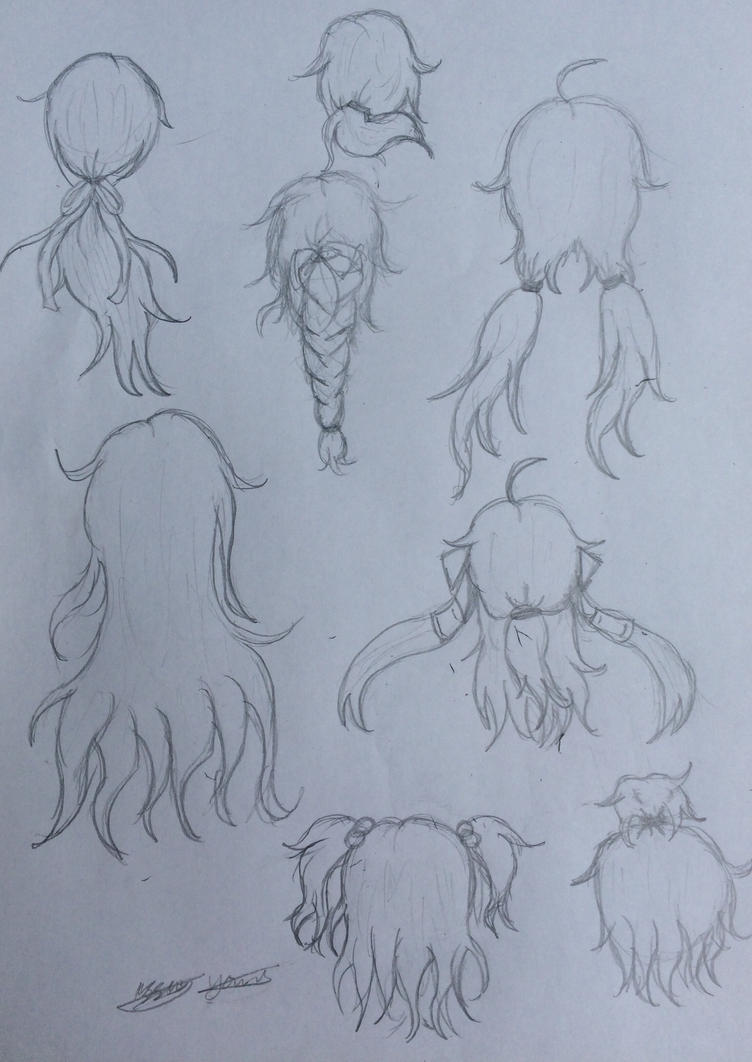 Hair styles (back) testing  by epicbubble7