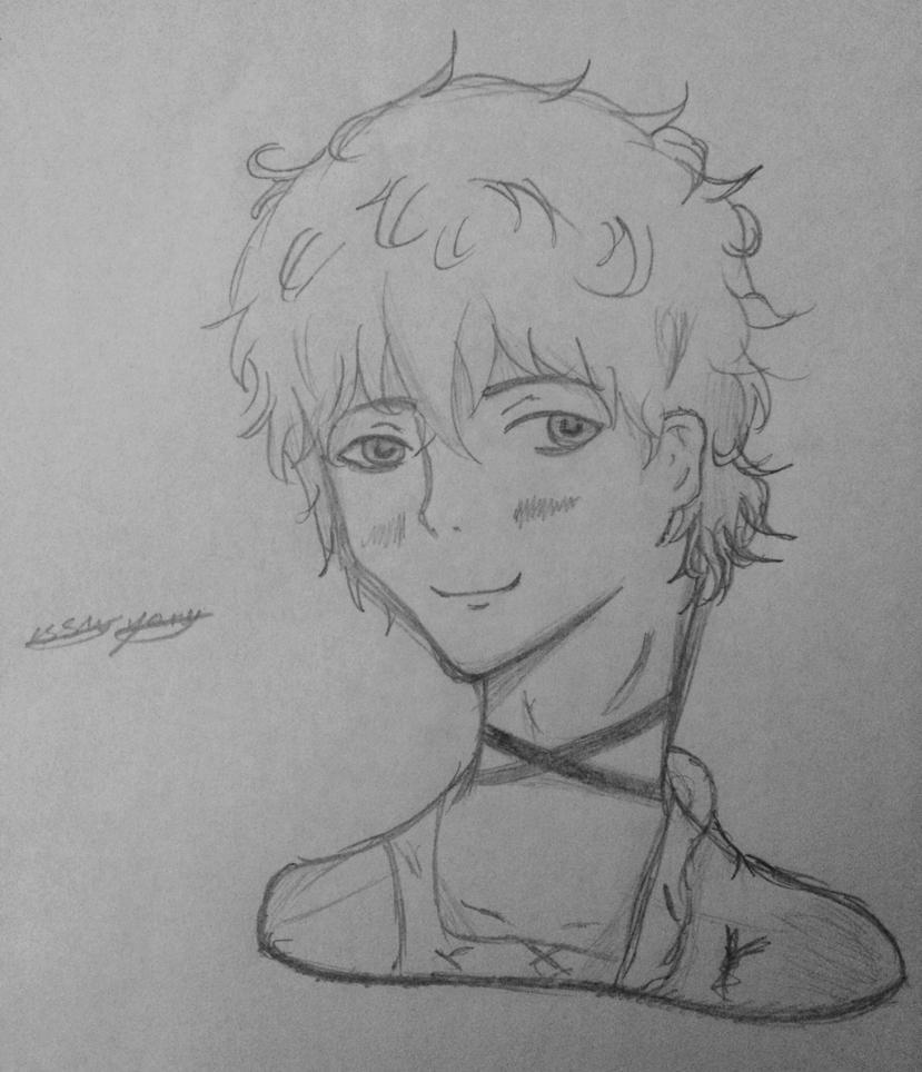 Saeran sketch by epicbubble7