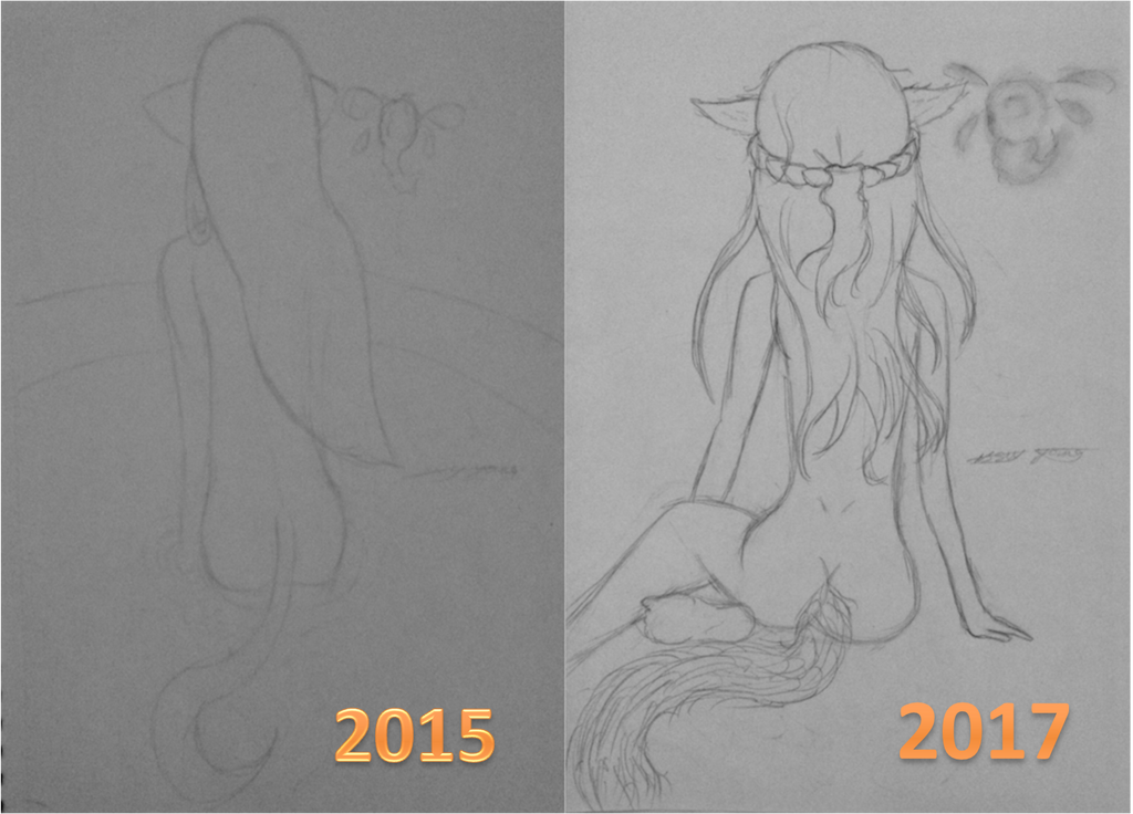 2 year progression on bodies by epicbubble7