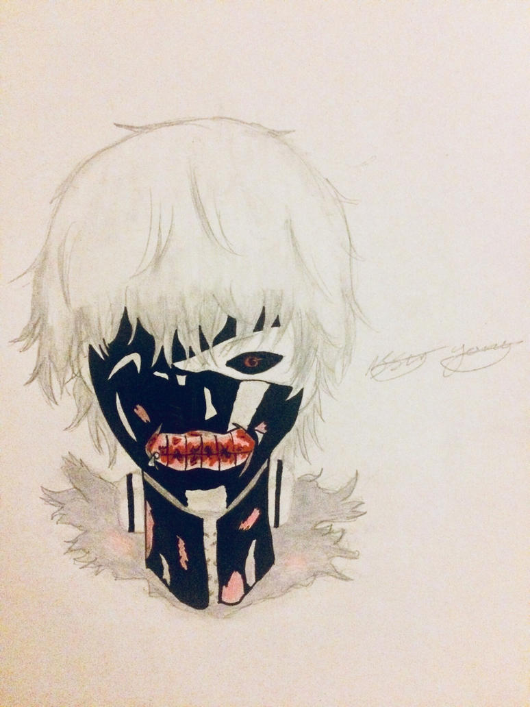 Ken Kaneki colour  by epicbubble7