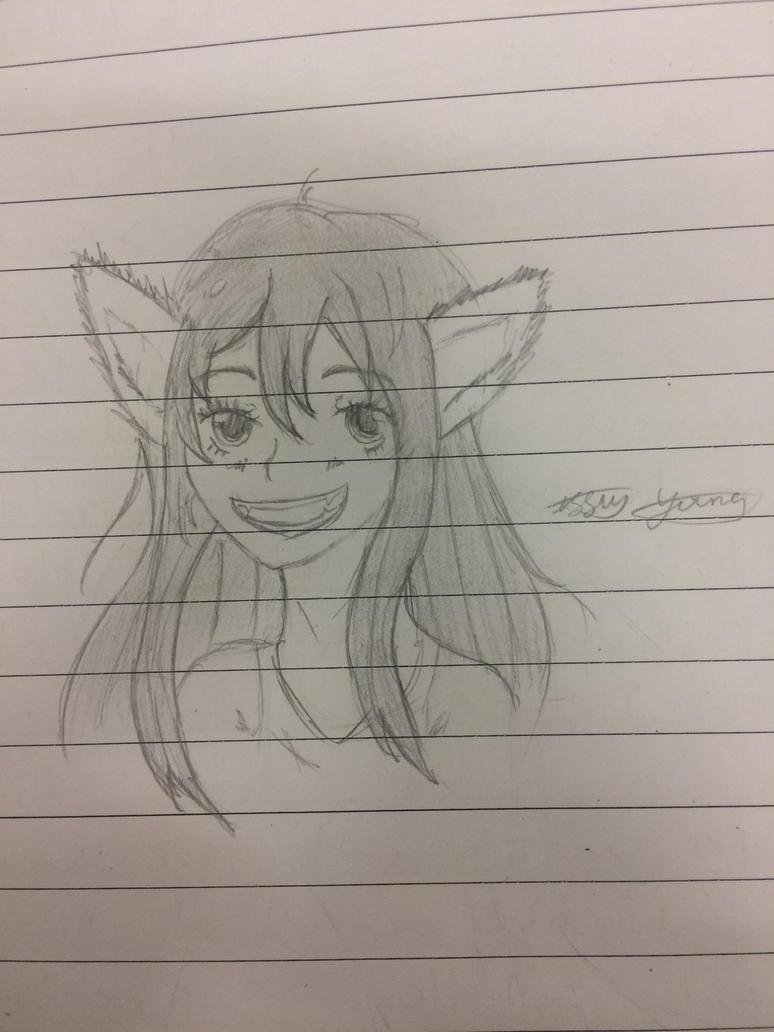 Yuki exam doodle  by epicbubble7