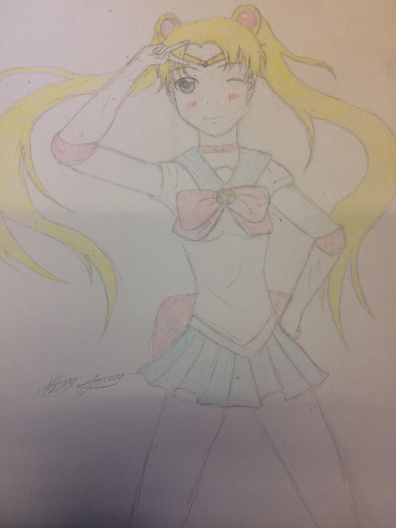 Sailor moon WIP by epicbubble7