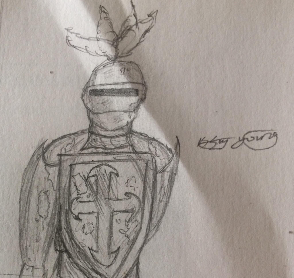 Knight doodle  by epicbubble7