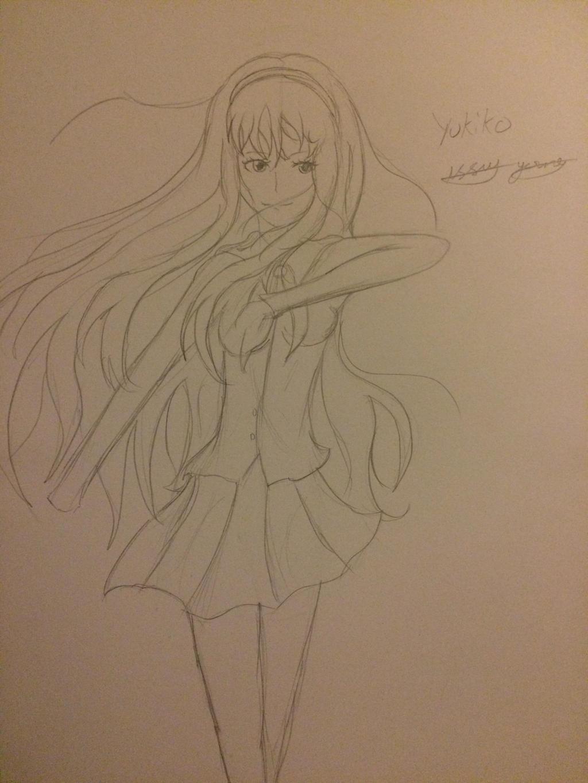 Yukiko WIP by epicbubble7