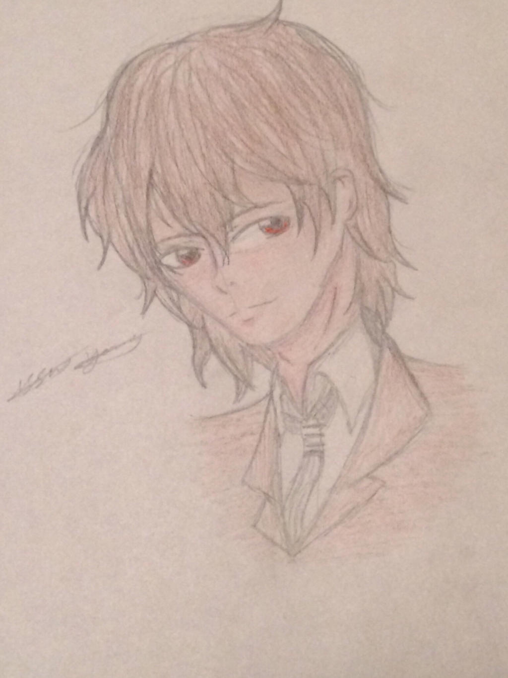 Akechi full colour by epicbubble7