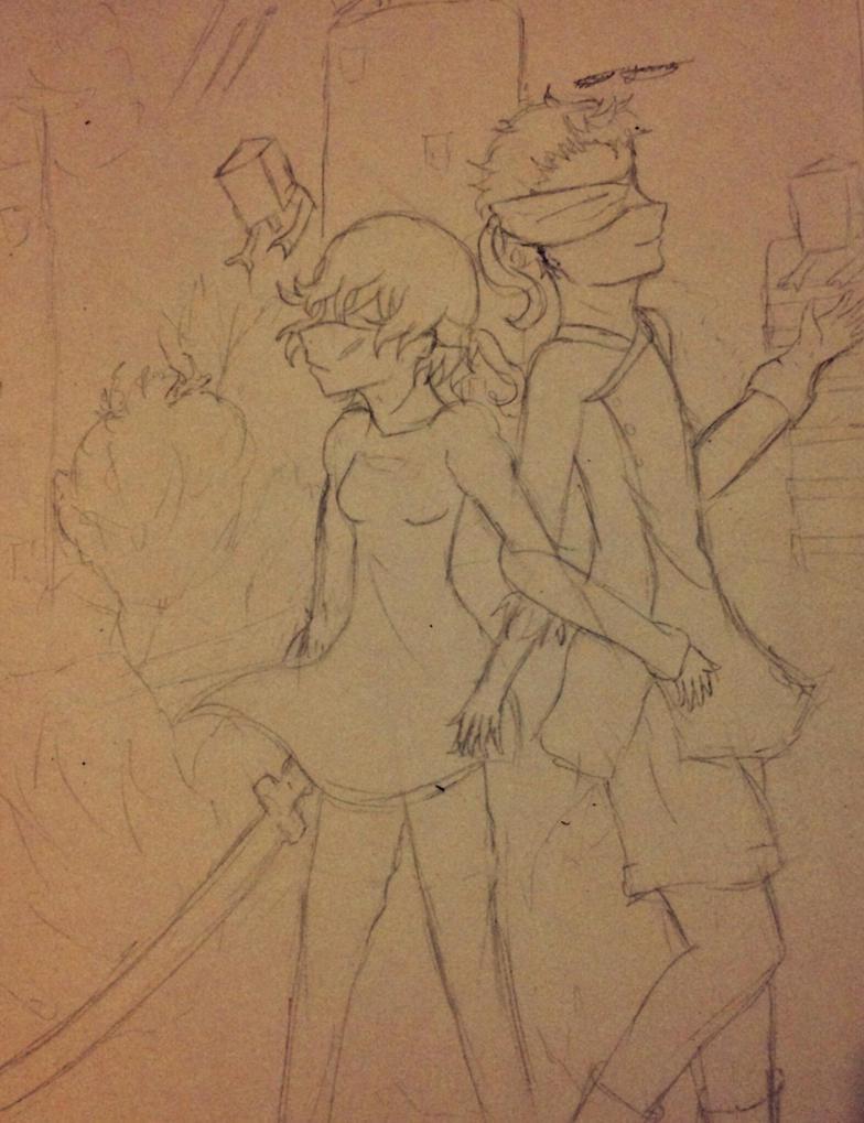 Persona 4 x Nier Automata  by epicbubble7
