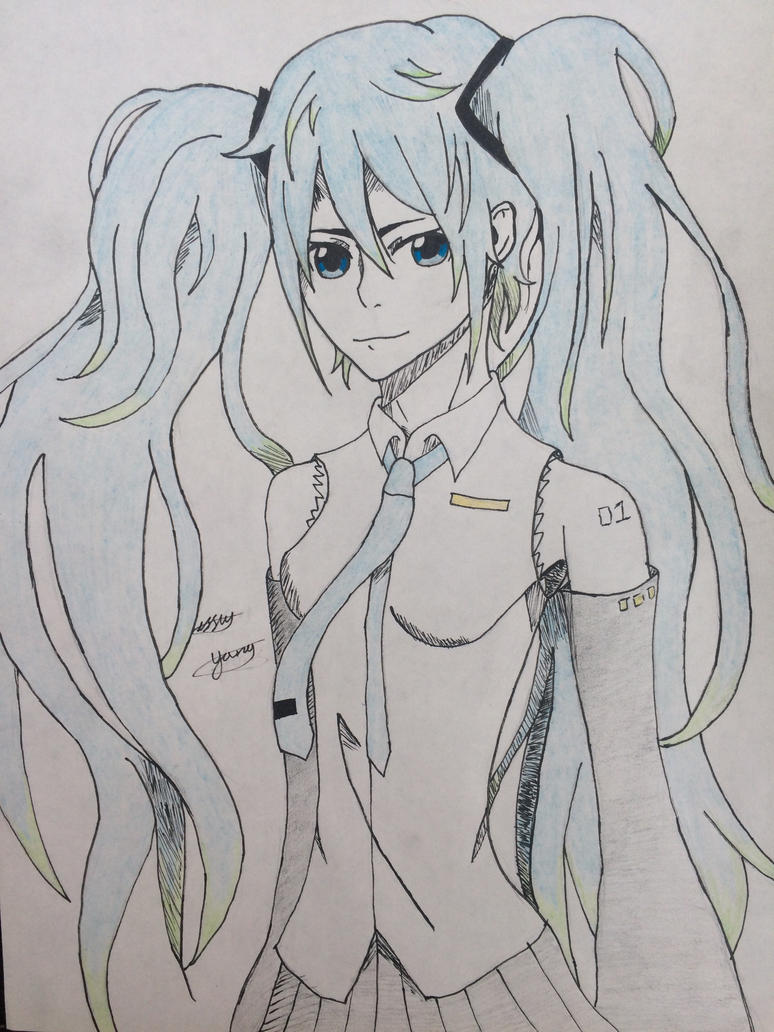 Hatsune Miku by epicbubble7