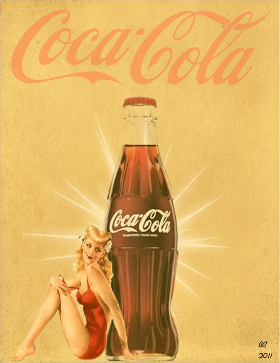 vintage looking coke pinup by desithen