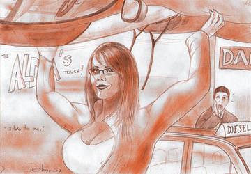 Alda Raluca lift a car. by POWER-BEAUTIES