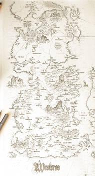 ASOIAF Speculative World Map - Westeros Full