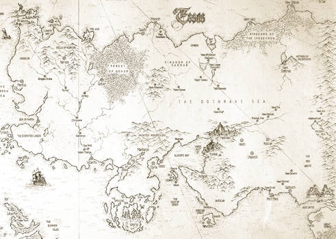 ASOIAF Speculative World Map - Essos Full