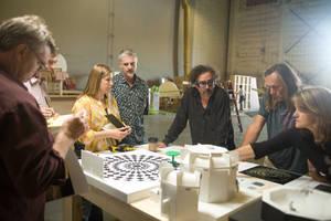 Burton behind the scenes