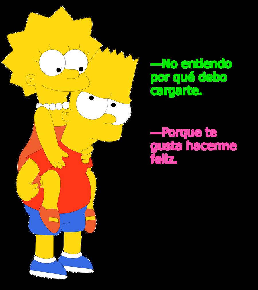 Otro fanart de Bart y Lisa by JuniorGustabo
