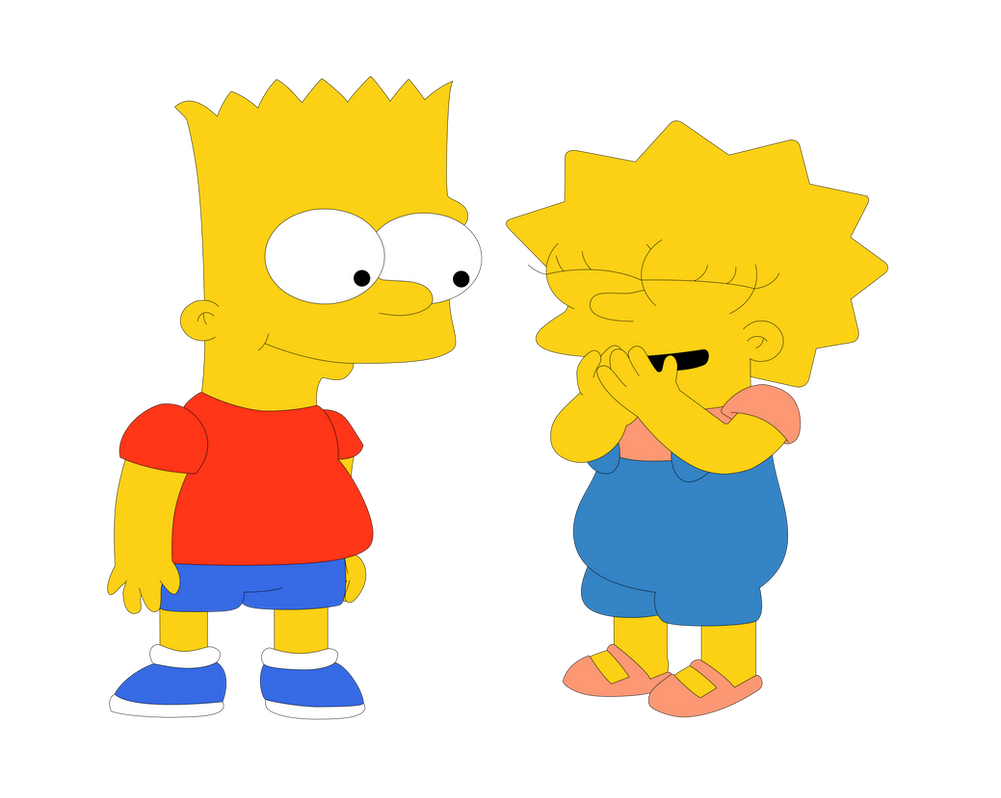 Lisa y Bart by JuniorGustabo