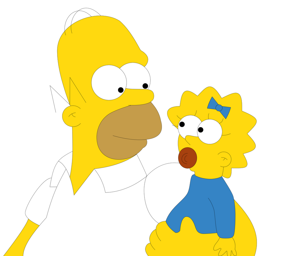 Homero y Maggie by JuniorGustabo