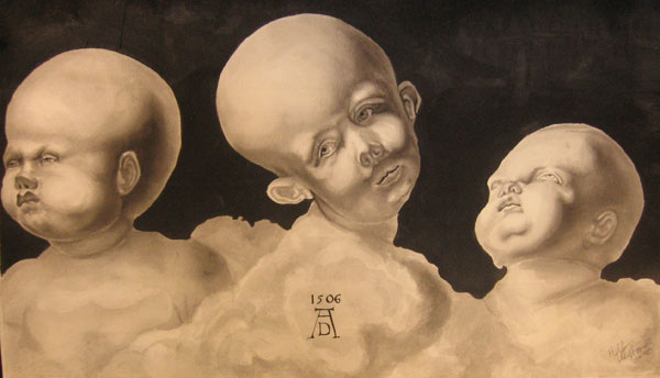 Baby heads after Durer by amrphous
