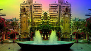 Coloured fountain