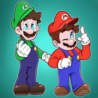 Mario and Luigi by JayconOWO