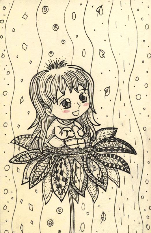 The girl on the flower by Feierka