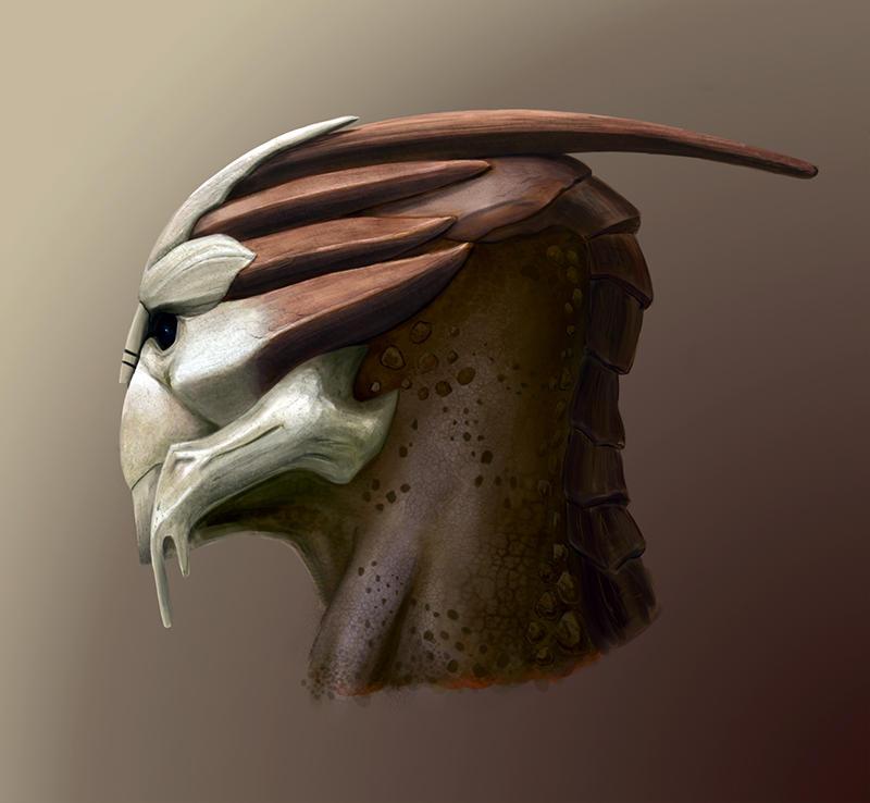 Turian head by Feierka on DeviantArt