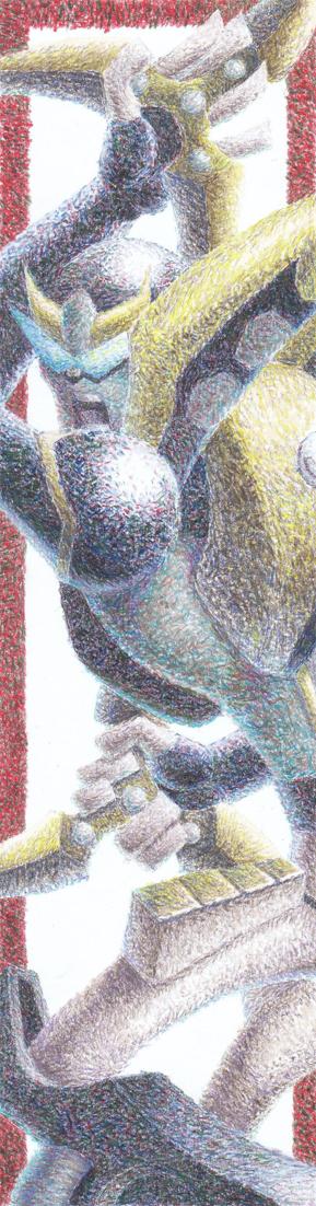 TFA Prowl pointillism by Dark-WildCat