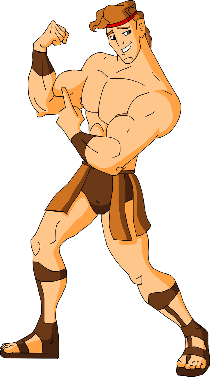 Shirtless Muscular Hercules by hercules4disney