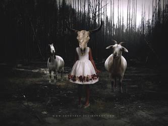 Goat Girl Wallpaper