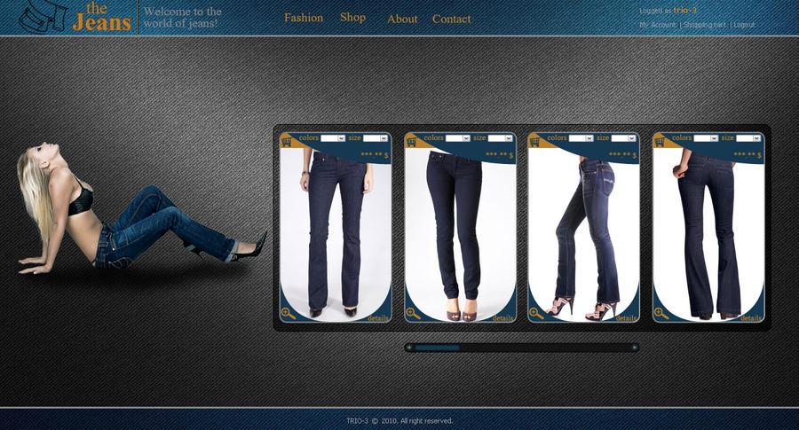 jeans website by TRIO-3 on DeviantArt