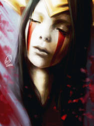 Iron Inquisitor Kayle Portrait by WANDAKUN