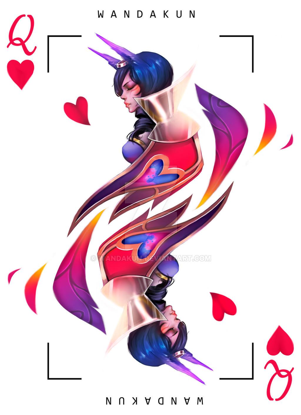 Xayah Character Design : Queen of hearts xayah by wandakun on deviantart