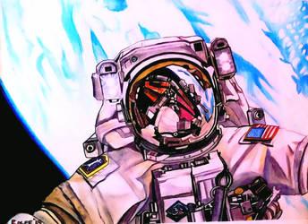 space station selfie