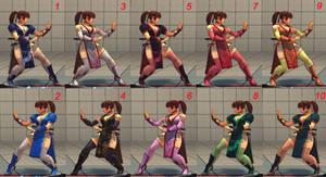 Chun-Li Kasumi costume v2.0 10 colors (Fixed)