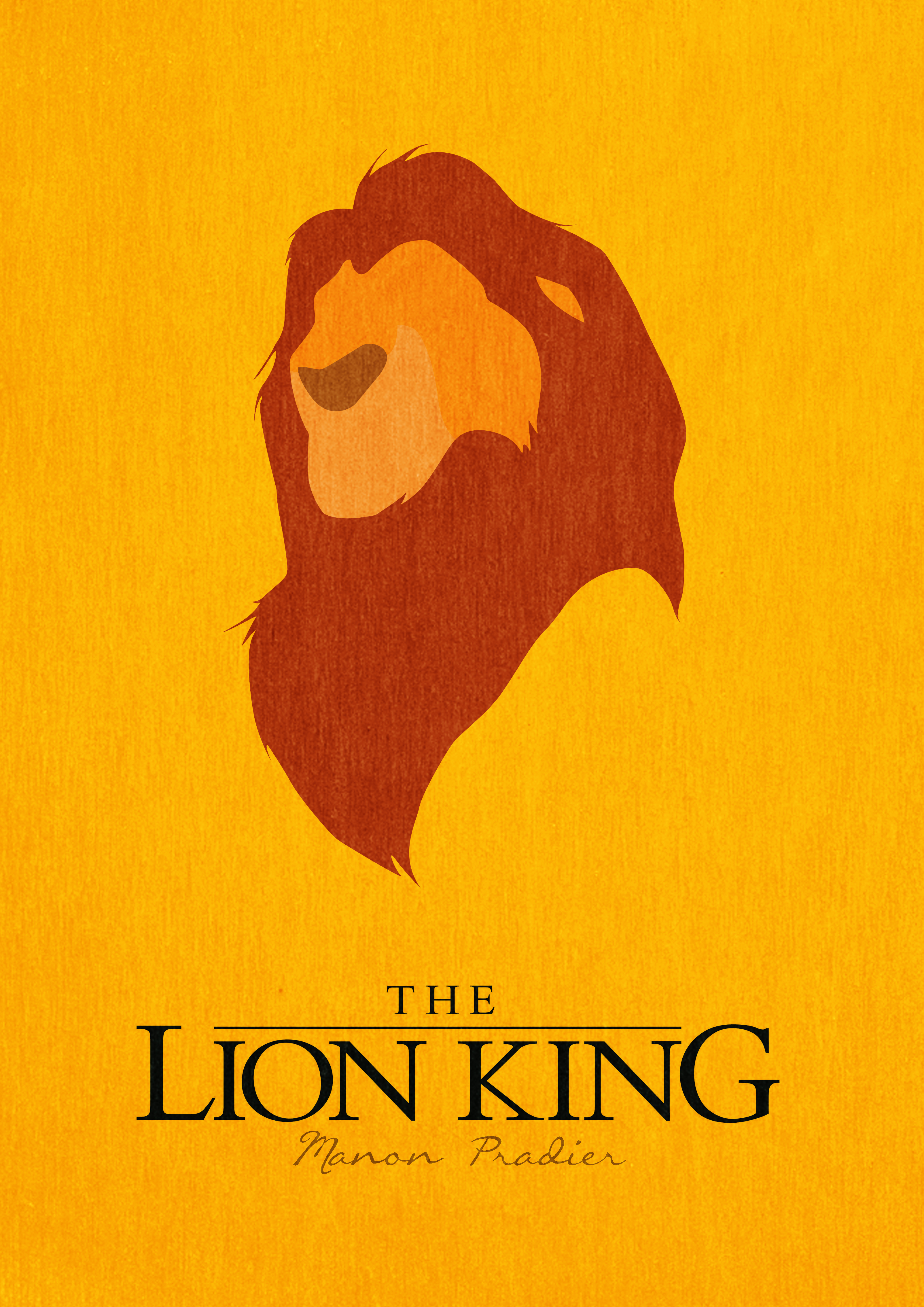 The lion king minimalist poster by manoulol on deviantart for Art post minimalisme